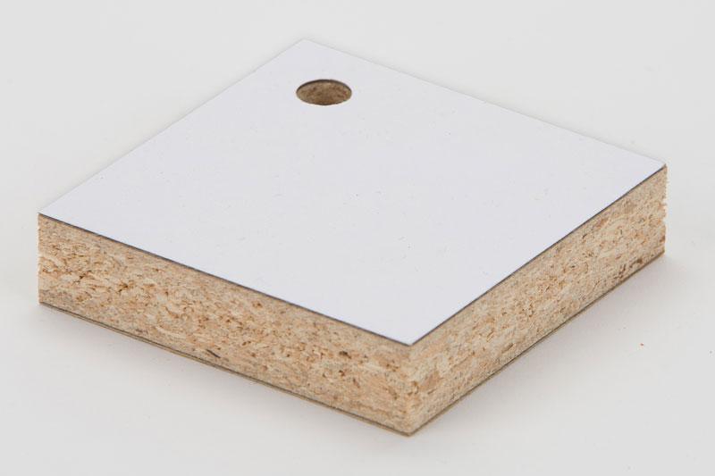 Laminated Particle Board ~ Samples of hot melt adhesive film lamination bonding