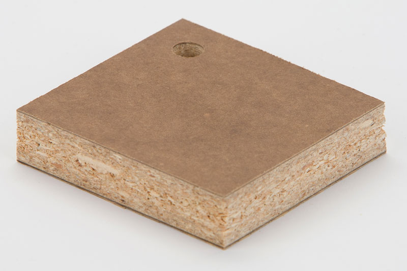 Phenolic Backer Bonded To Particleboard