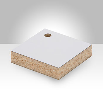 Vertical Grade Laminate bonded to Particleboard