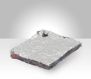 Acoustic Insulation Felt bonded to Aluminum Foil